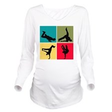 collage3 Long Sleeve Maternity T-Shirt