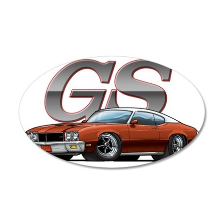 BuickGS_BrownVW 35x21 Oval Wall Decal