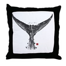 tunatail shirt Throw Pillow