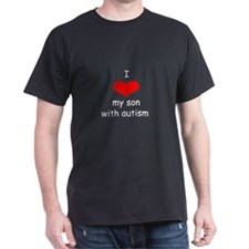 I love my son with autism black T-Shirt