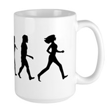 evolution woman-CP-white Mug