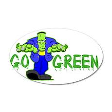Go_Green_Frank_dark 35x21 Oval Wall Decal