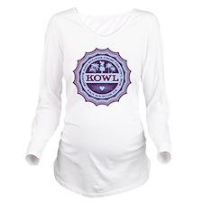 KOWL_2Purple Long Sleeve Maternity T-Shirt