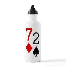 72 Poker Sports Water Bottle