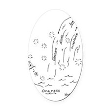 Oneness Oval Car Magnet