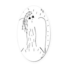Divine Guidance Angel Oval Car Magnet