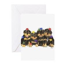 Rottweiler Christmas Greeting Cards