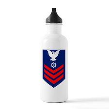 uscg-rank-mk1 Water Bottle