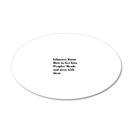 2-gilmored 20x12 Oval Wall Decal