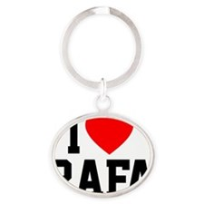 Heart Rafa Button Oval Keychain