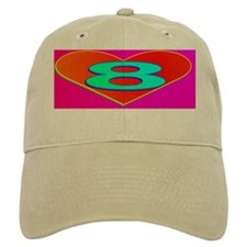LUV8(small framed print) Baseball Cap