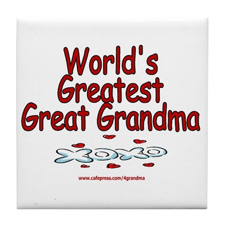 Great Grandma Tile Coaster