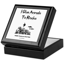 I Glue Animals To Rocks Keepsake Box