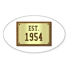 baby boomers novelty established 1954 Decal