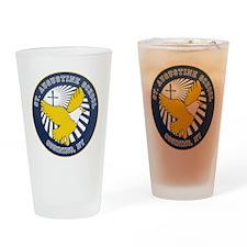 2-SAS logo round Drinking Glass