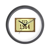 baby boomers novelty established 1964 Wall Clock