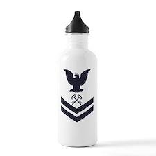 USCG-Rank-SK2-Blue-Cro Sports Water Bottle
