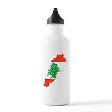 Lenanon Map Water Bottle