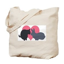 Cat and Rabbit Tote Bag