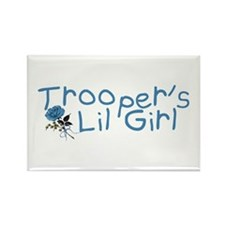 Trooper's Lil Girl Rectangle Magnet