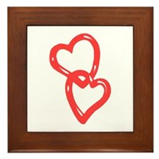 Two Hearts as one Framed Tile