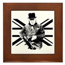 Churchill Flag Framed Tile