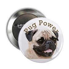 "Pug Power 2.25"" Button (10 pack)"