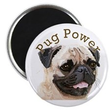 "Pug Power 2.25"" Magnet (10 pack)"