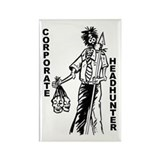 Corporate Headhunter Zombie Rectangle Magnet