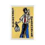 Zombie Corporate Headhunter Rectangle Magnet
