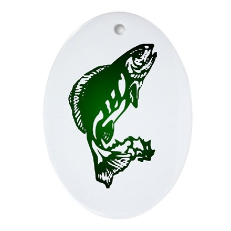 Fish Oval Ornament