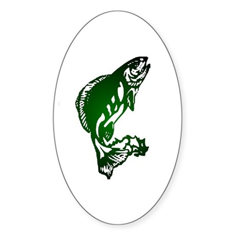 Fish Oval Sticker
