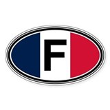 France Euro Oval Bumper Stickers
