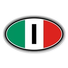 Italy Euro Oval Decal