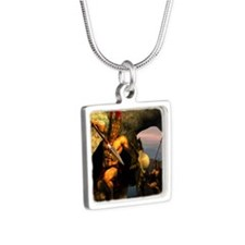 Spartans-11x11 Silver Square Necklace