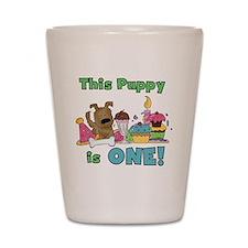 First Puppy Birthday Shot Glass