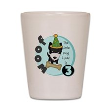 Dog Lover 3rd Birthday Shot Glass