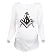Masonic Emblem Long Sleeve Maternity T-Shirt