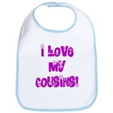 I Love My Cousins Bib