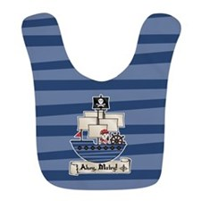 Pirate Ship Ahoy Matey Bib