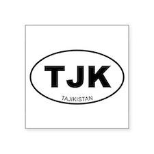 Tajikistan Oval Sticker