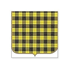 "mcleod tartan Square Sticker 3"" x 3"""