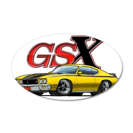 Yellow_GSX 35x21 Oval Wall Decal