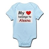 My heart belongs to aleena Onesie