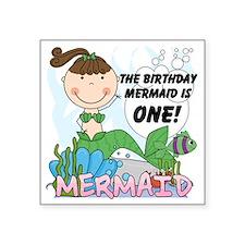 """mermaidone Square Sticker 3"""" x 3"""""""
