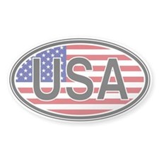 USA Euro Oval Decal