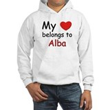 My heart belongs to alba Hoodie