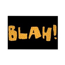 Blah Black & Orange Rectangle Magnet (100 pack)