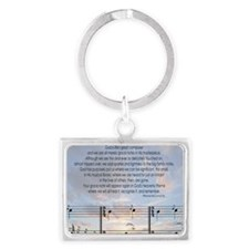 Grace Note Ornament Landscape Keychain