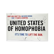 United States of Homophobia Rectangle Magnet